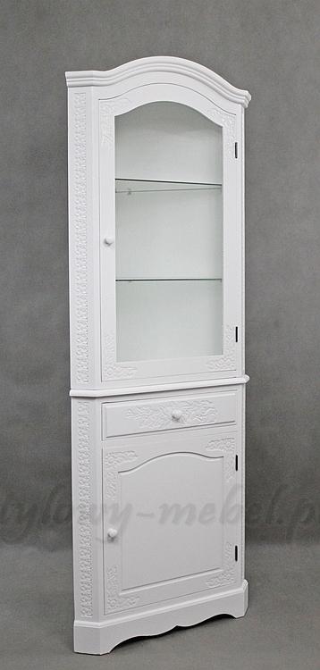 Nowa Biała Stylowa Narożna Witryna 153060